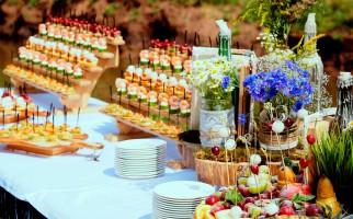 Свадьба на базе отдыха или частном доме. Выездной фуршет и праздничный банкет